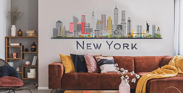 Sticker New York pour salon