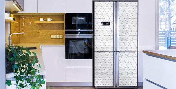 Sticker noir et blanc pour réfrigérateur