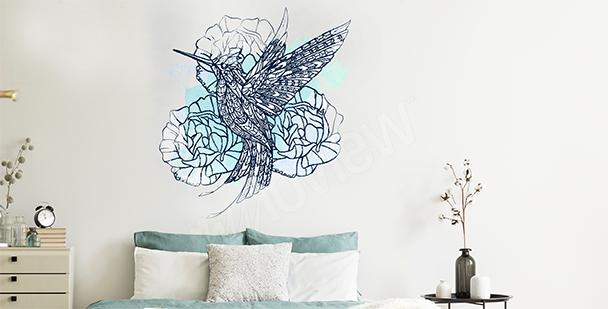 Sticker oiseau pour chambre à coucher