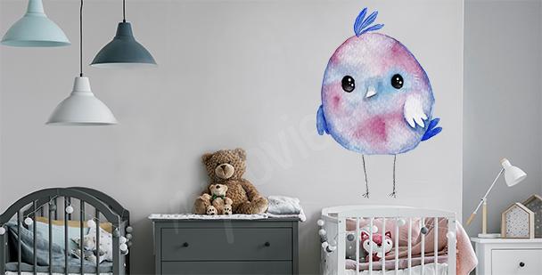 Sticker oiseau pour chambre d'enfant