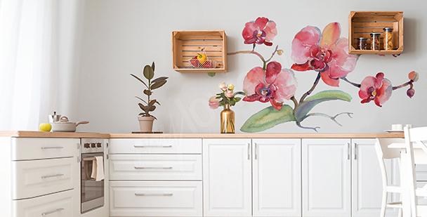 Sticker orchidée pour cuisine