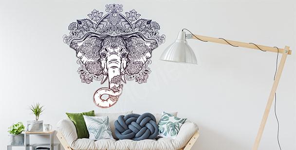 Sticker ornemental éléphant
