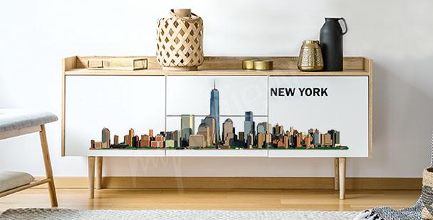 Sticker panorama de ville