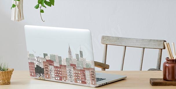 Sticker panoramique pour laptop