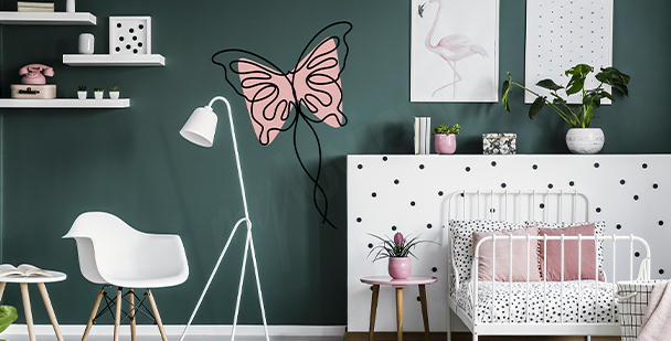 Sticker papillon pour fille