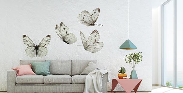 Sticker papillons style boho