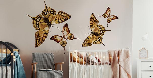 Sticker papillons pour un enfant
