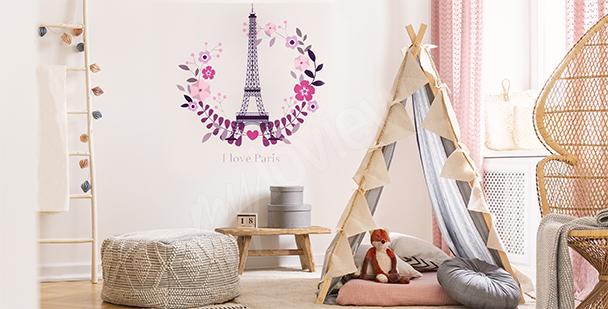 Sticker Paris pour chambre d'enfant