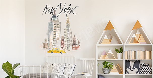 Sticker pastel New York