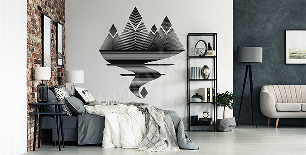 Sticker paysage minimaliste