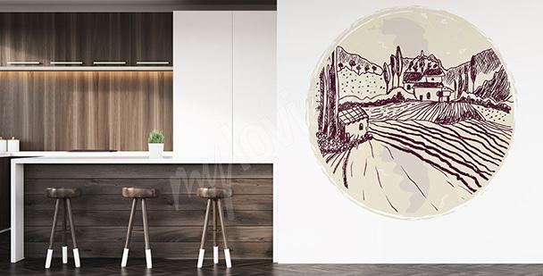 Sticker paysage pour cuisine