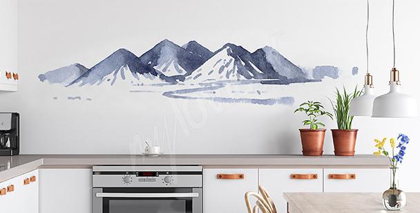 Sticker peinture aquarelle pour la cuisine
