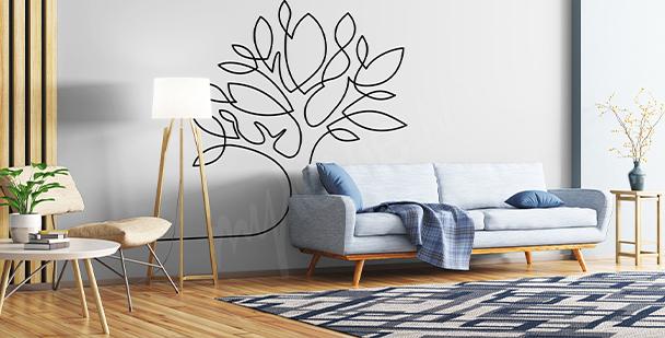 Sticker arbre abstrait