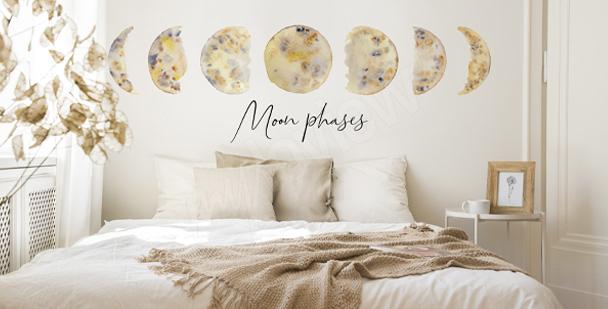 Sticker phases lunaires