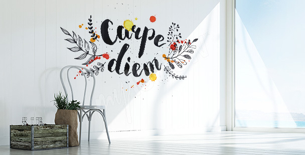Sticker phrase « Carpe diem »
