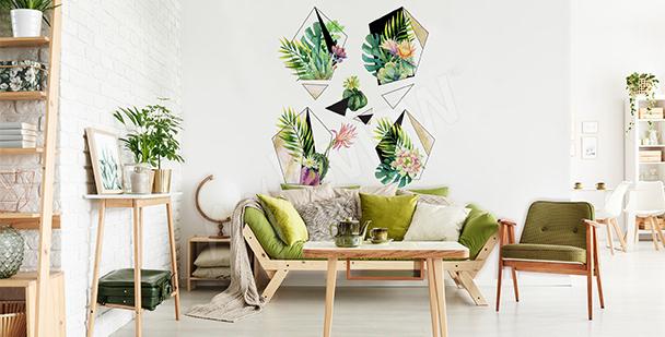 Sticker plante pour salon éco