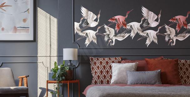 Sticker plume pour chambre à coucher