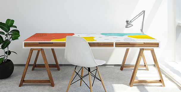 Sticker pop-art pour table