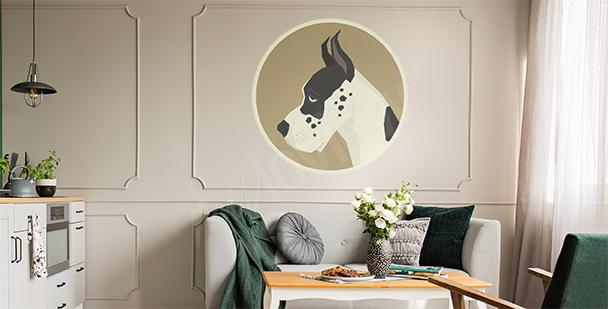 Sticker portrait animal de compagnie