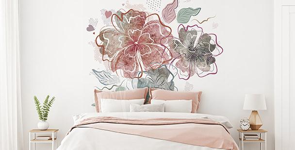 Sticker pour chambre à coucher fleurs