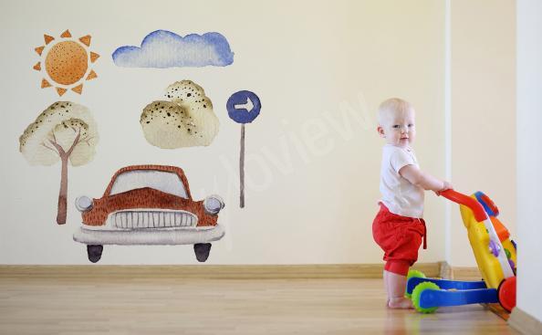 Sticker pour chambre de garçon voiture