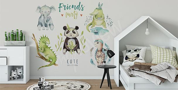 Sticker pour chambre d'enfant: animaux