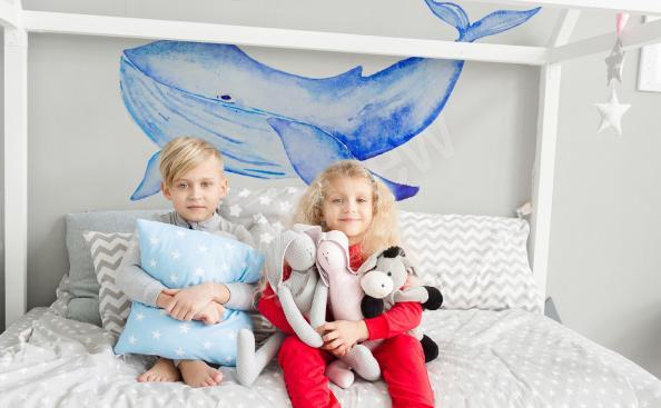 Sticker pour chambre d'enfant baleine