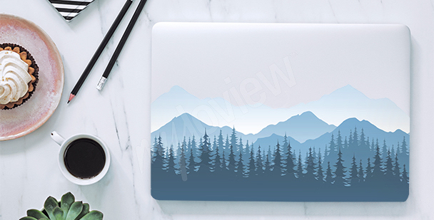 Sticker pour laptop montagnes