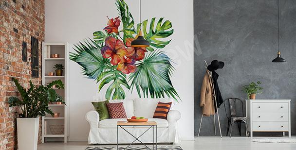 Sticker pour salon plante exotique