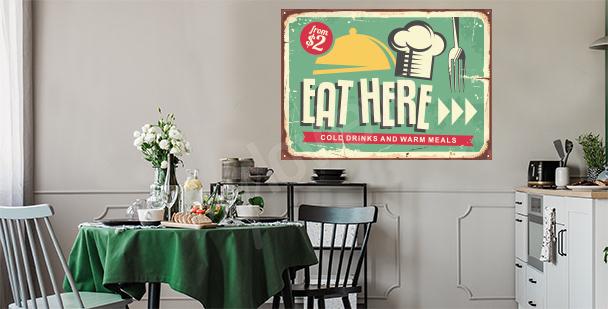 Sticker pour une cuisine de style rétro