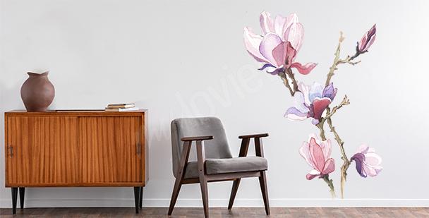 Sticker printanier magnolia