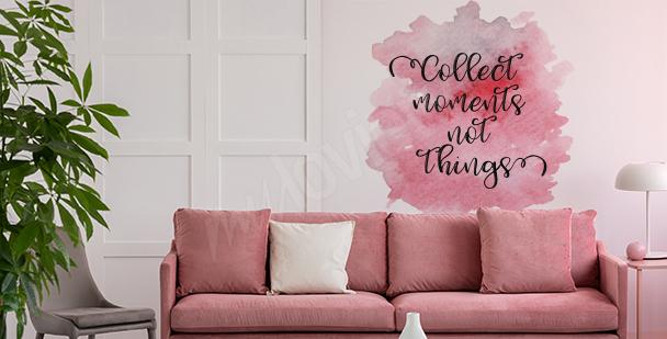 Sticker rose pour salon