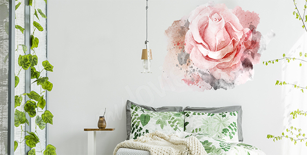Sticker roses version aquarelle