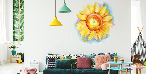 Sticker tournesol aquarelle
