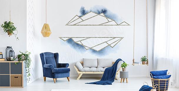 Sticker triangles argentés