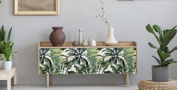 Sticker tropical pour meuble