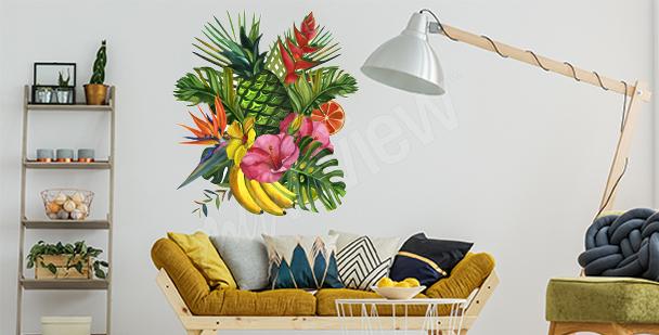 Sticker tropical pour salon