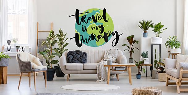 Sticker typographique avec la Terre