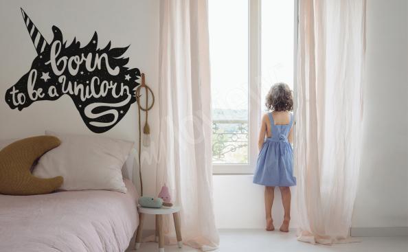 Sticker typographique minimaliste pour chambre d'enfant