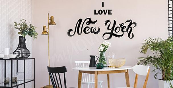 Sticker typographique New York