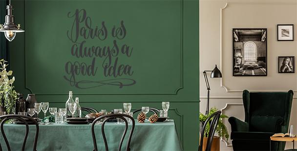 Sticker typographique Paris