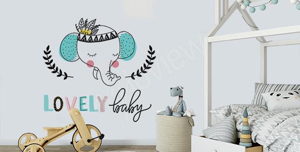 Sticker typographique pour enfant