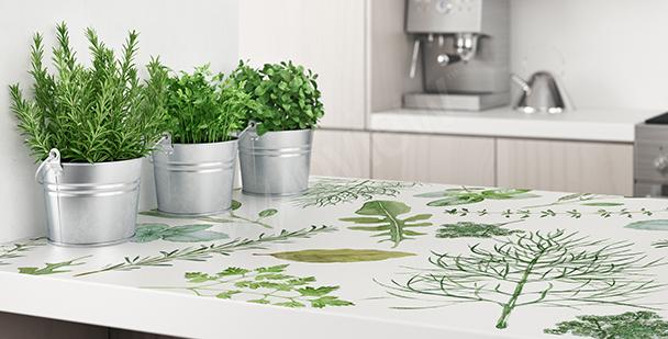 Sticker végétal pour cuisine
