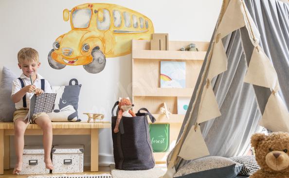 Sticker véhicule pour chambre d'enfant