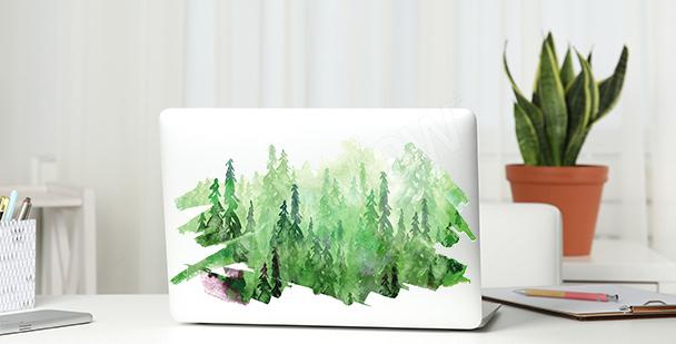 Sticker vert avec aquarelle