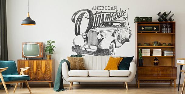 Sticker voiture américaine