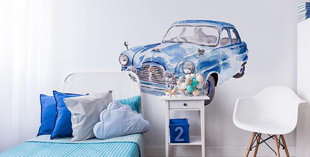 Sticker voiture peinte à l'aquarelle