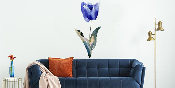Stickers tulipe bleue