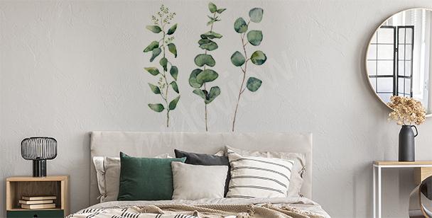 Stickers végétation à l'aquarelle