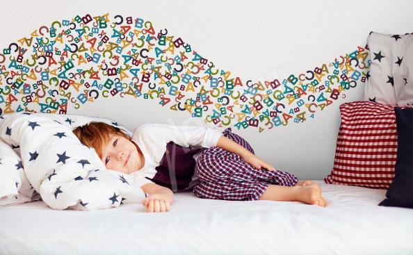 Sticker lettres colorées pour enfant